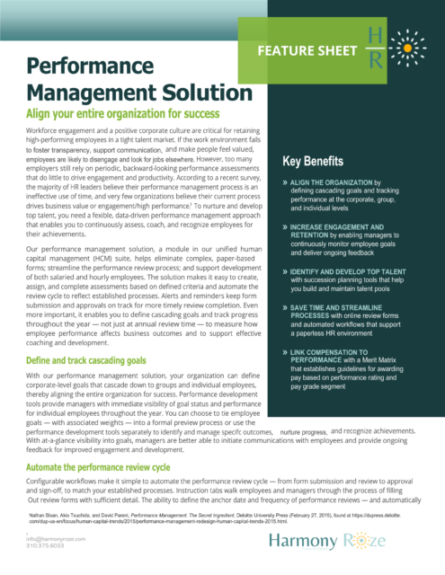 Performance Mgmt Preview